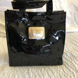 Harrods Black and Gold Small Tote